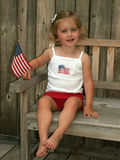 Fourth of July girl Royalty Free Stock Photography
