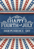 Fourth of july greeting card. Greeting card for fourth of july holiday. EPS 10 contains transparency Stock Images