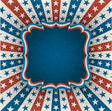 Fourth of july greeting card. Greeting card for fourth of july holiday. EPS 10 contains transparency Royalty Free Stock Image