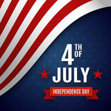Fourth of July greeting card template. United States of America Independence day poster, brochure design. Vector illustration royalty free illustration