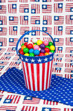 Fourth of July Gumballs Stock Image
