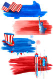 Fourth of July Happy Independence Day America Stock Photo