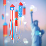 Fourth of July Happy Independence Day America. Illustration of Fourth of July background for Happy Independence Day of America Royalty Free Stock Photo