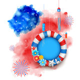 Fourth of July Happy Independence Day America. Illustration of Fourth of July background for Happy Independence Day of America Royalty Free Stock Photos