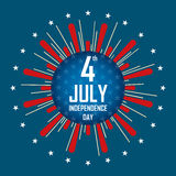 The fourth of July, Happy independence day United States  Royalty Free Stock Images