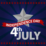 Fourth of july. Happy independence day Royalty Free Stock Image