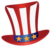 Fourth of July Hat Gold Stars vector Illustration. Fourth of July Hat with Red White Blue Stripes and Gold Stars for 4th July Independence Day vector Stock Photography