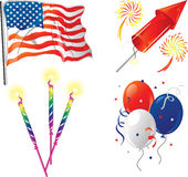 Fourth of July icons. Illustrations of four icons for the fourth of July Royalty Free Stock Image