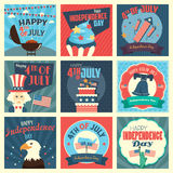 Fourth of July icons Royalty Free Stock Photos