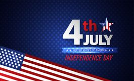 Fourth of July Independence Day. Abstract background. Vector. Fourth of July Independence Day. Abstract background. Festive Vector illustration Royalty Free Stock Image
