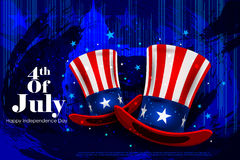 Fourth July, Independence day of America. Easy to edit vector illustration of 4th July, Independence day of America Stock Images