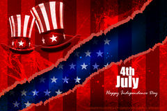 Fourth July, Independence day of America. Easy to edit vector illustration of 4th July, Independence day of America Royalty Free Stock Photos