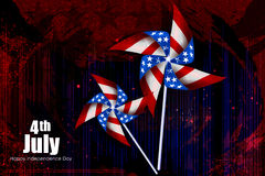 Fourth July, Independence day of America. Easy to edit vector illustration of 4th July, Independence day of America Royalty Free Stock Images