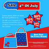 Fourth July Independence Day of America stock illustration