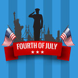 Fourth of July. Independence day background with usa flag Royalty Free Stock Photos
