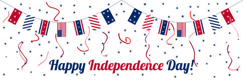 Fourth of July Independence day celebration banner Royalty Free Stock Photos