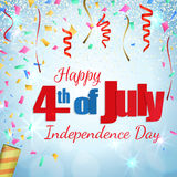 Fourth of July, Independence Day greeting card Royalty Free Stock Images