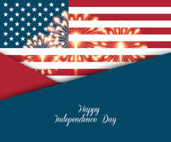 Fourth of July. Independence day greeting card Stock Photo