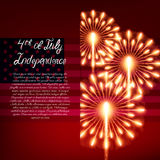 Fourth of July. Independence day greeting card Stock Images
