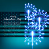 Fourth of July. Independence day greeting card Stock Photos