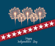Fourth of July. Independence day greeting card Royalty Free Stock Images