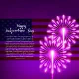 Fourth of July. Independence day greeting card Royalty Free Stock Image