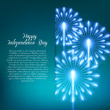 Fourth of July. Independence day greeting card Royalty Free Stock Photos