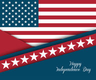 Fourth of July. Independence day greeting card Stock Photography