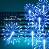 Fourth of July. Independence day greeting card Royalty Free Stock Photography