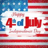 Fourth of July, Independence Day. Happy 4th of July, Independence Day greeting card. Happy July Fourth. Vector Royalty Free Stock Photo