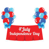 Fourth of July Independence Day. Illustration Stock Photo
