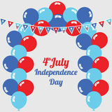 Fourth of July Independence Day. Illustration Royalty Free Stock Photos