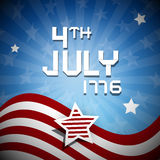 Fourth of July 1776 Independence Day. Illustration Royalty Free Stock Photography
