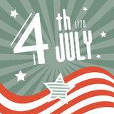 Fourth July 1776 Independence Day. Retro Background Stock Photos