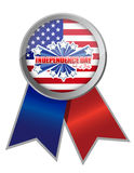 Fourth of july, independence day ribbon. Illustration design Stock Photography