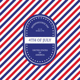 Fourth of July independence day United States of America backgro Stock Image