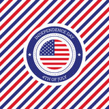 Fourth of July independence day United States of America backgro Royalty Free Stock Photo