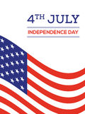 Fourth of July independence day United States of America backgro. 4th of July independence day United States of America background flat design, vector vector illustration