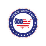Fourth of July independence day United States of America icon Stock Photography