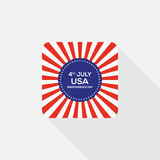 Fourth of July independence day United States of America icon. 4th of July independence day United States of America icon flat design,  illustration Royalty Free Stock Images