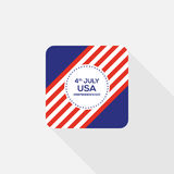 Fourth of July independence day United States of America icon. 4th of July independence day United States of America icon flat design,  illustration Stock Images