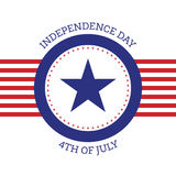 Fourth of July independence day United States of America Stock Images