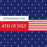 Fourth of July independence day United States of America. 4th of July independence day United States of America background flat design, vector illustration royalty free illustration