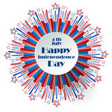 Fourth of July Independence Day. Fourth of July, United States Independence Day label. 4th of July congratulation. Vector illustration royalty free illustration