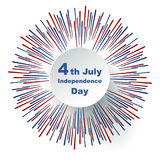 Fourth of July Independence Day. Fourth of July, United States Independence Day label. 4th of July congratulation. Vector illustration vector illustration