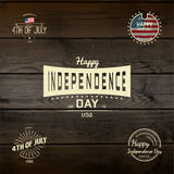 Fourth of July Independence Day USA badges logos and labels for any use Royalty Free Stock Image
