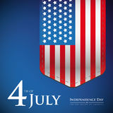 Fourth of July - Independence day USA banner or poster Royalty Free Stock Photo