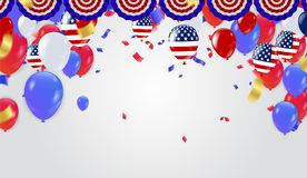 Fourth of July Independence Day. Vector illustration. Eps.10 Royalty Free Illustration