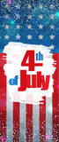 Fourth of July, Independence Day vertical banner. Happy 4th of July, Independence Day greeting card vertical banner. Happy July Fourth. Vector Stock Photos