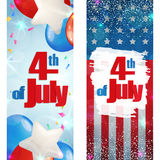 Fourth of July, Independence Day vertical banner Royalty Free Stock Photos